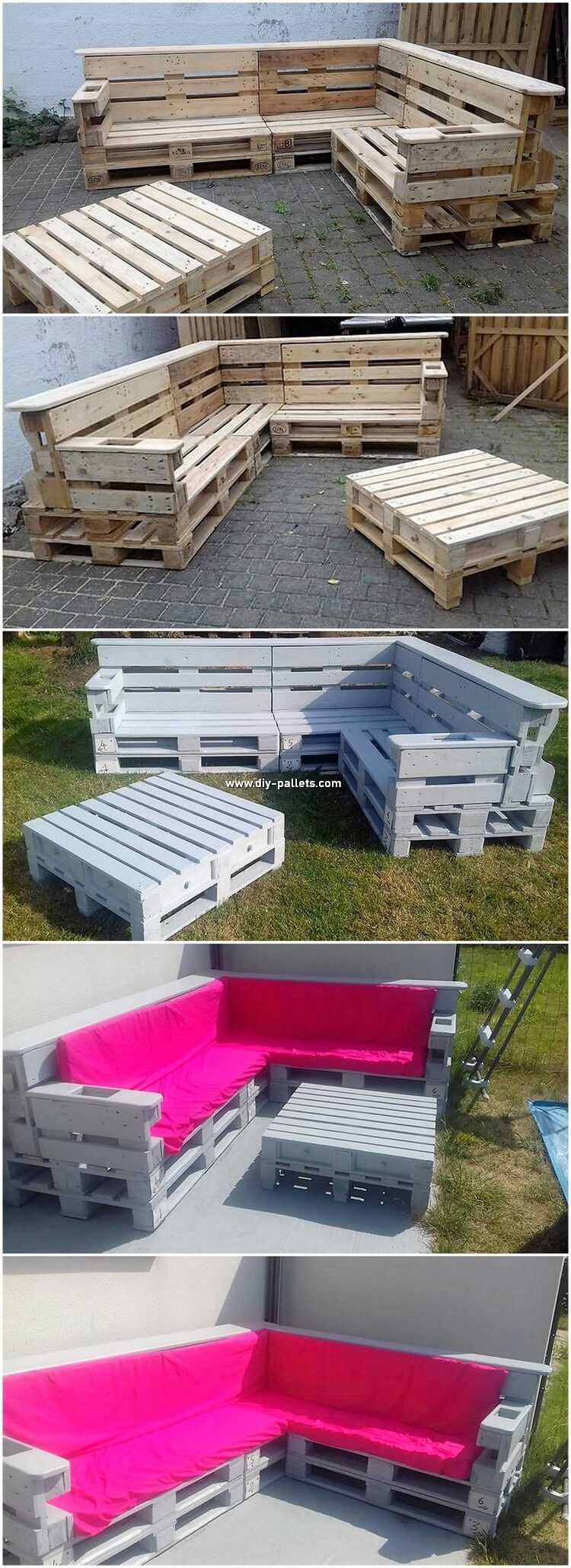 DIY Pallet Garden Couch and Table