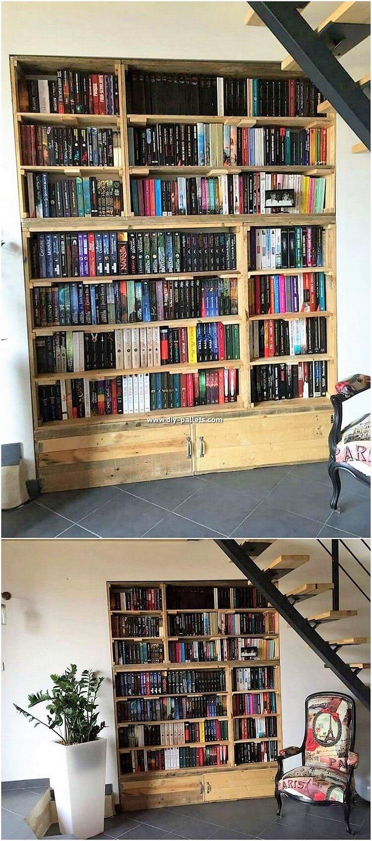 Pallet Book Shelving Unit