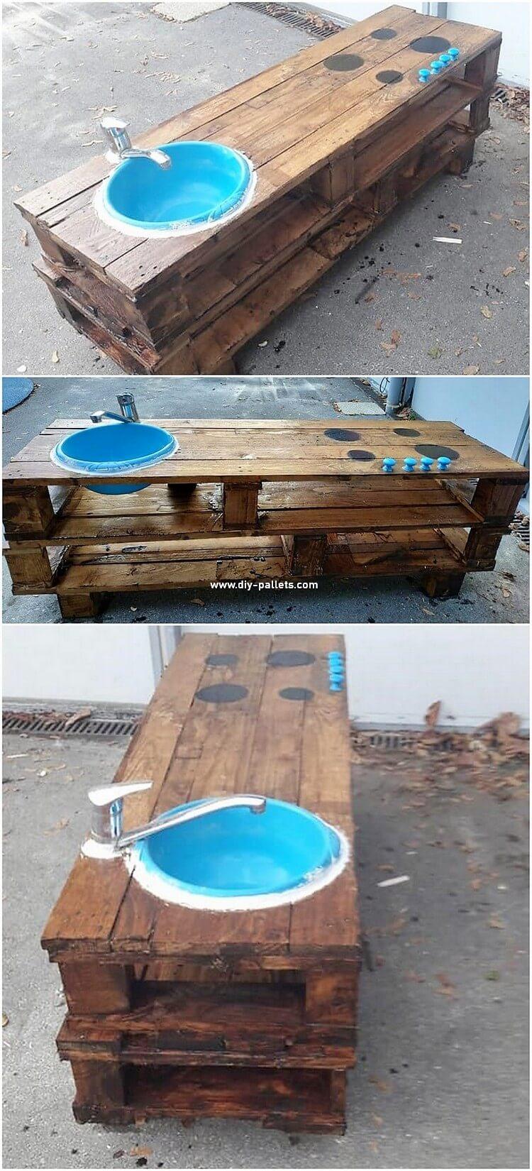 Pallet Kids Kitchen with Sink