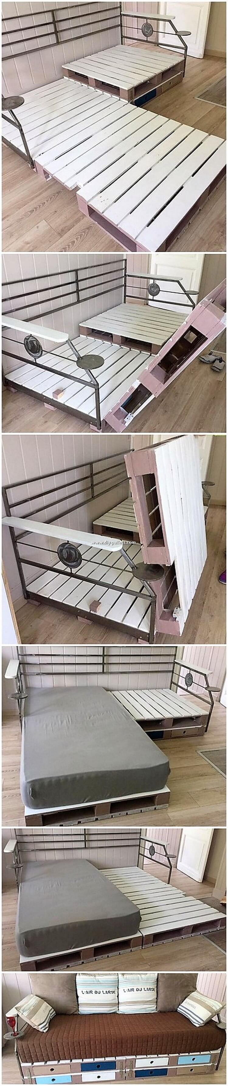 Pallet Sofa Cum Bed