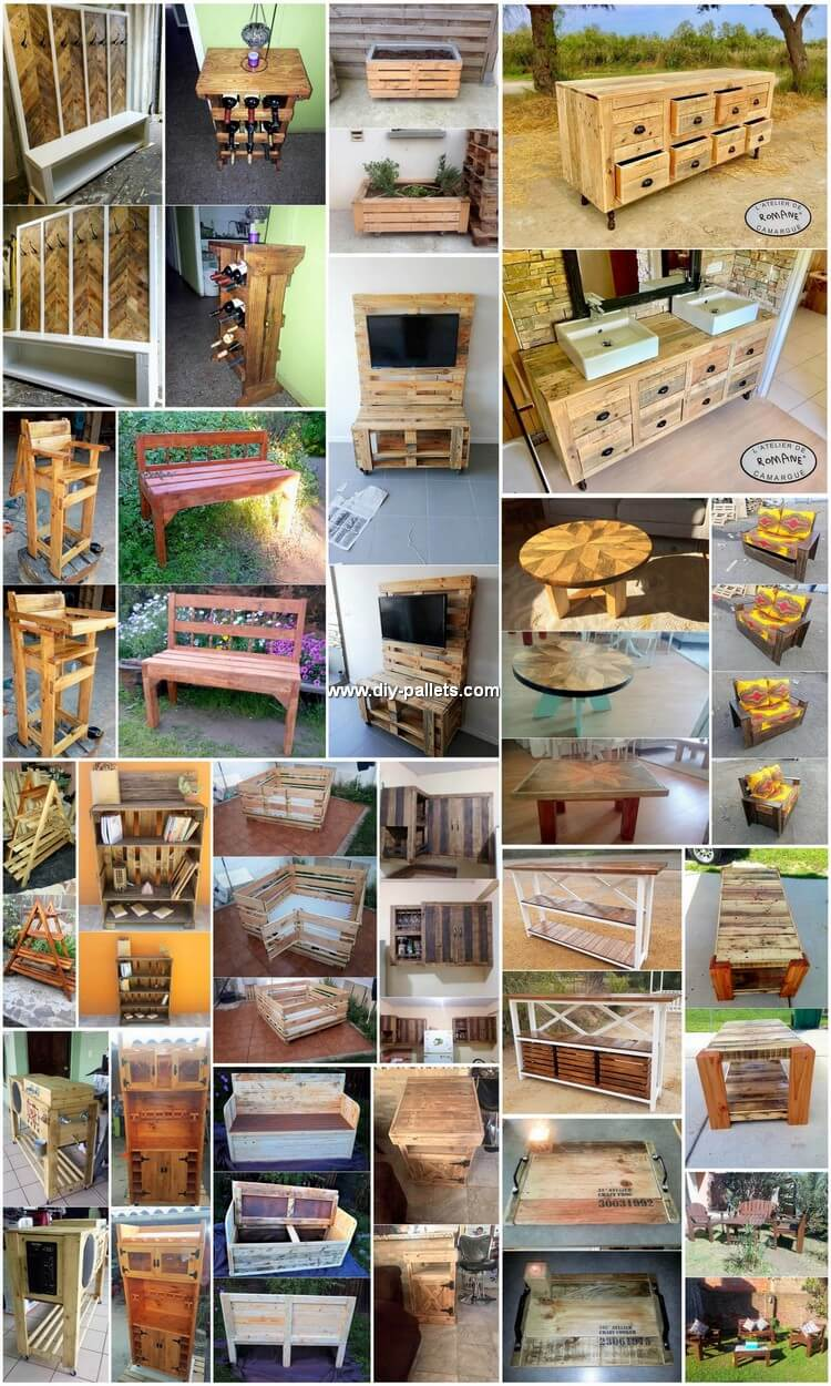 Wonderful Creations from Used Wood Pallets