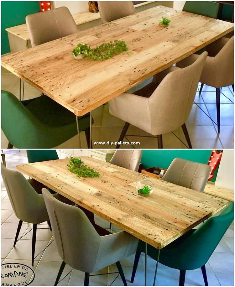 Wood Pallet Dining Table