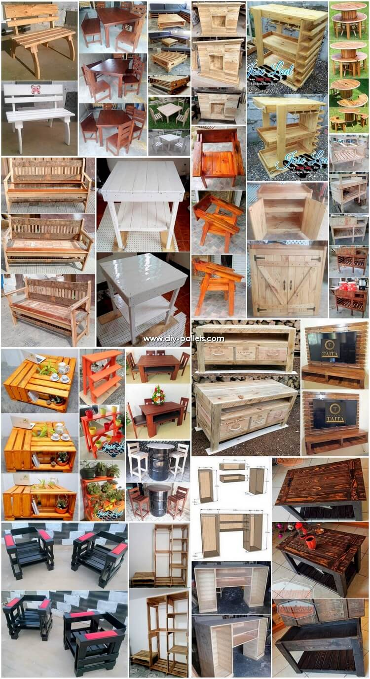 Amazing DIY Projects Made with Reused Wood Pallets
