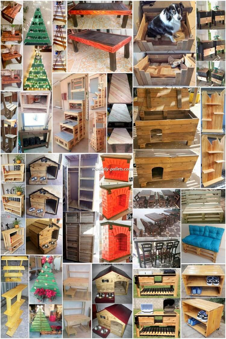 Creative and Simple Ideas for Wood Pallet Reusing