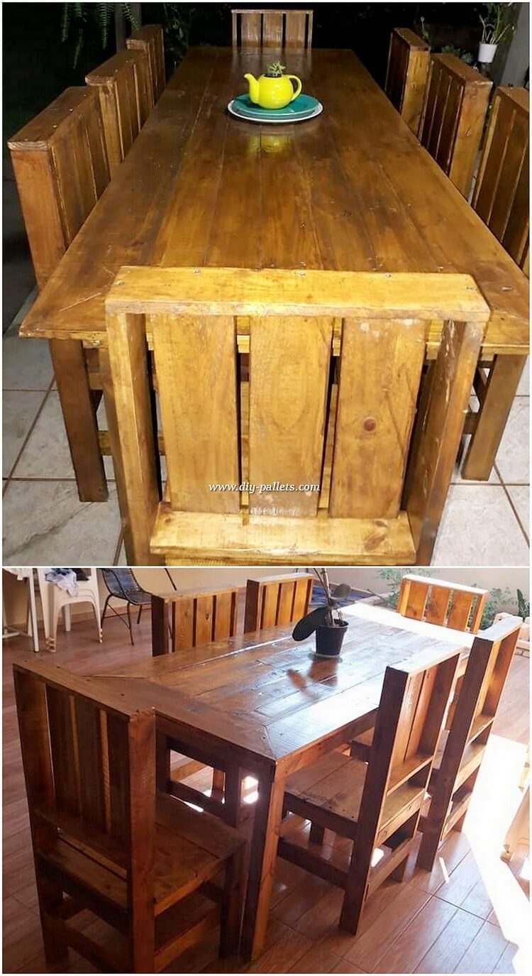 Wood Pallet Dining Furniture