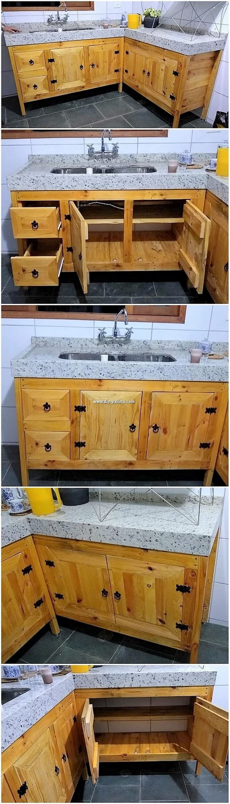 Pallet Sink with Cabinets
