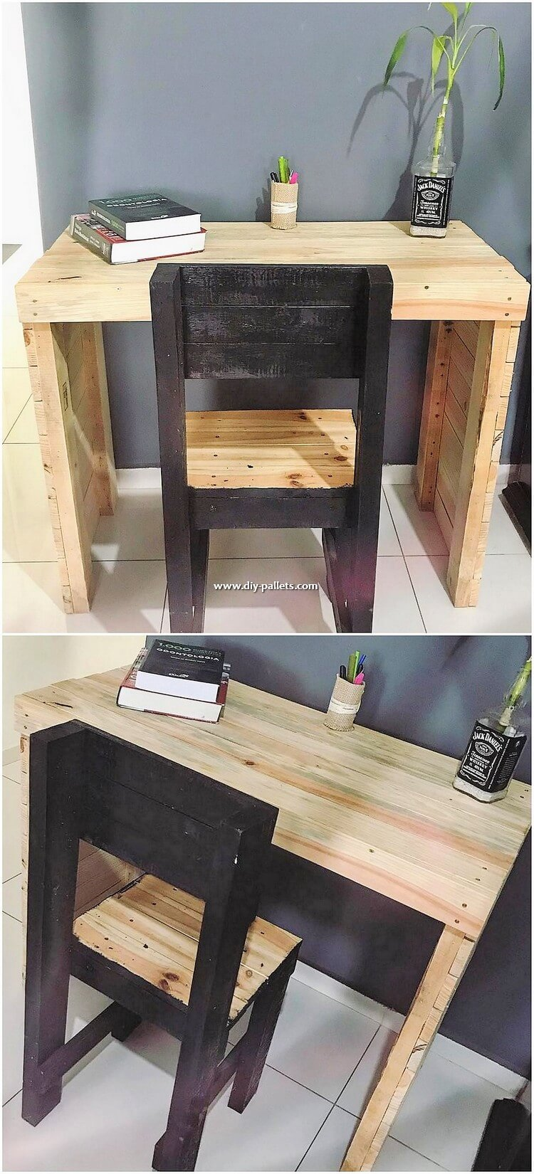 Pallet Study Table and Chair