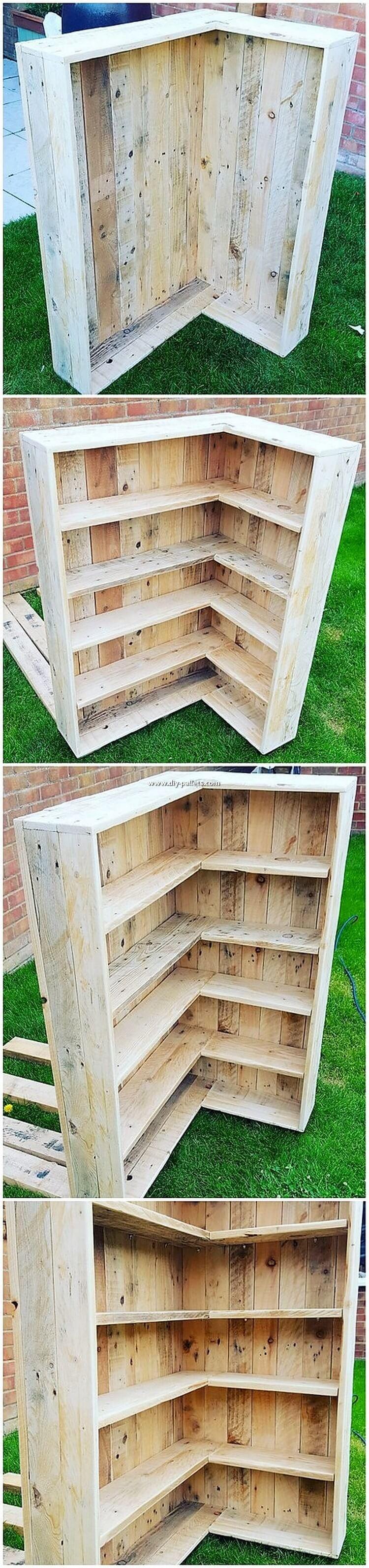 DIY Pallet Shelving Unit