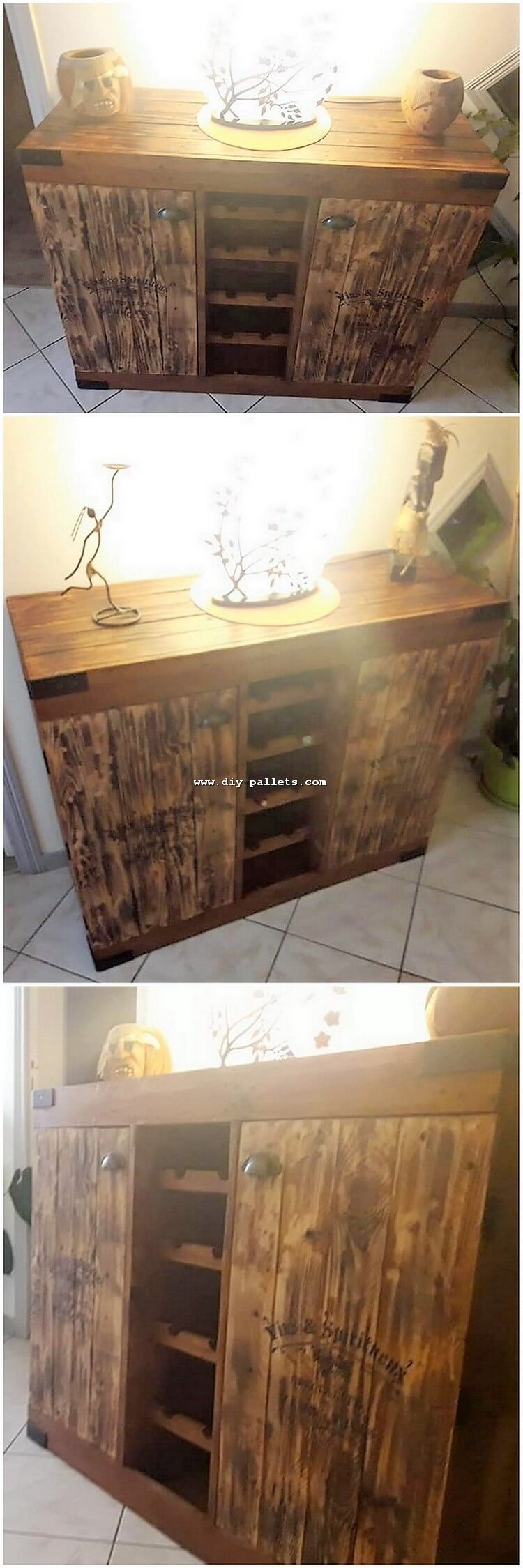 Old Pallet Cabinet