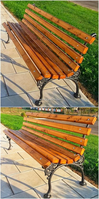 Wood Pallet Garden Benches
