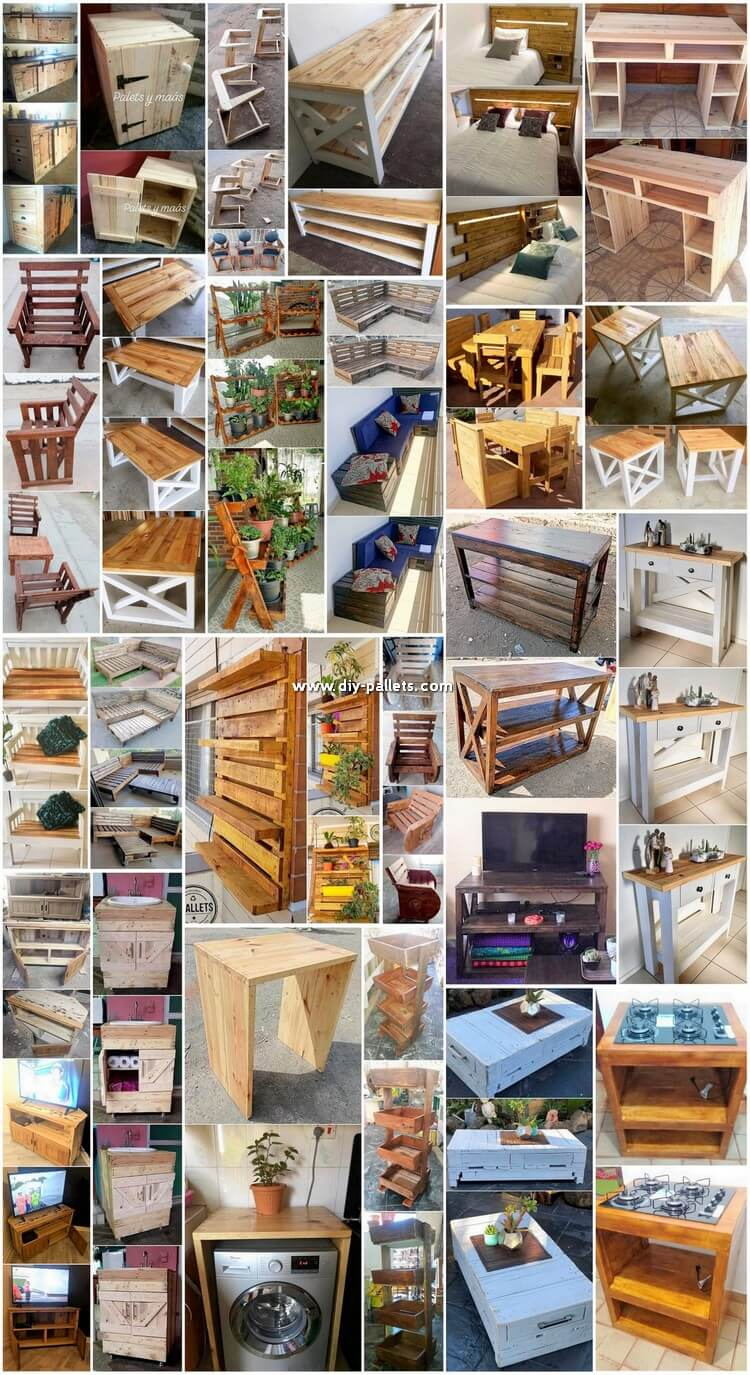 Modish DIY Wooden Scraped Pallets Reusing Ideas