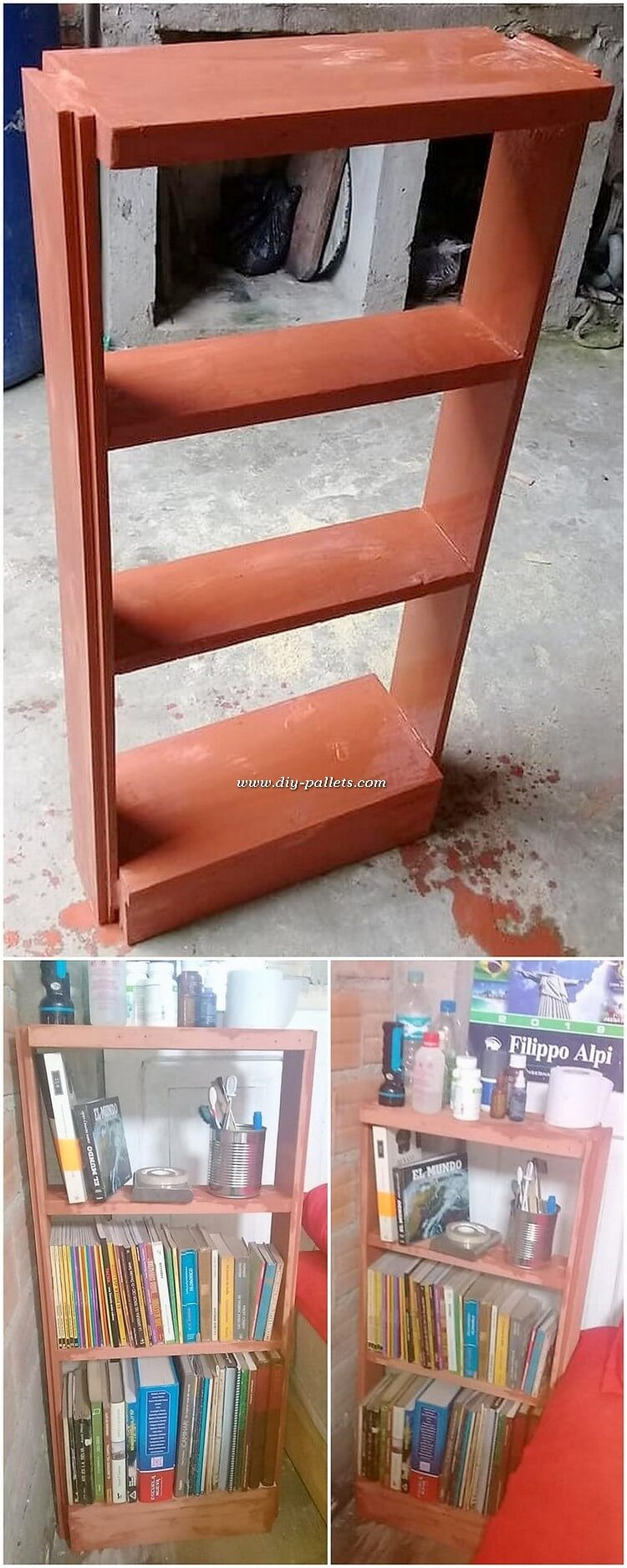 Pallet Book Shelving