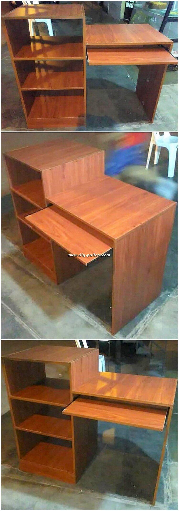 Pallet Computer Desk Table