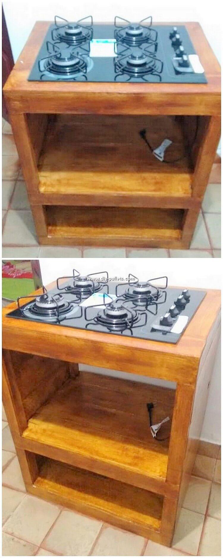 Pallet Mini Kitchen Island Table