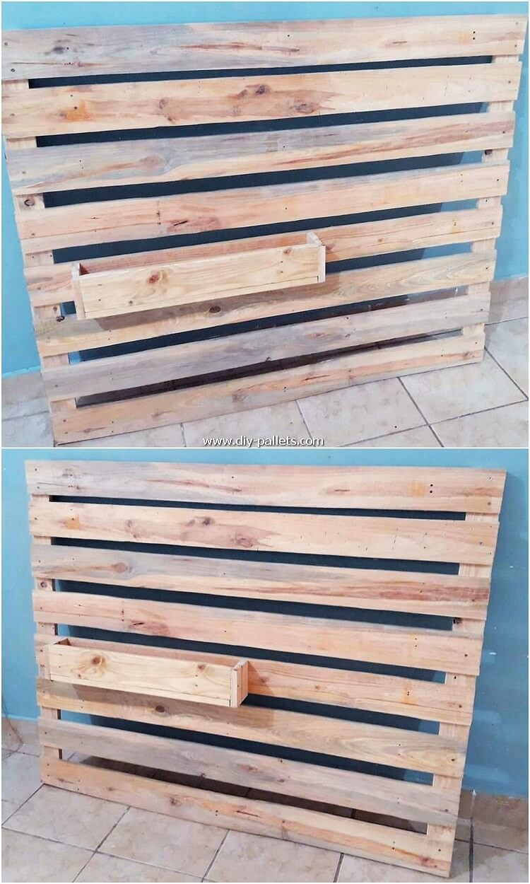 Pallet Wall Decor with Shelf