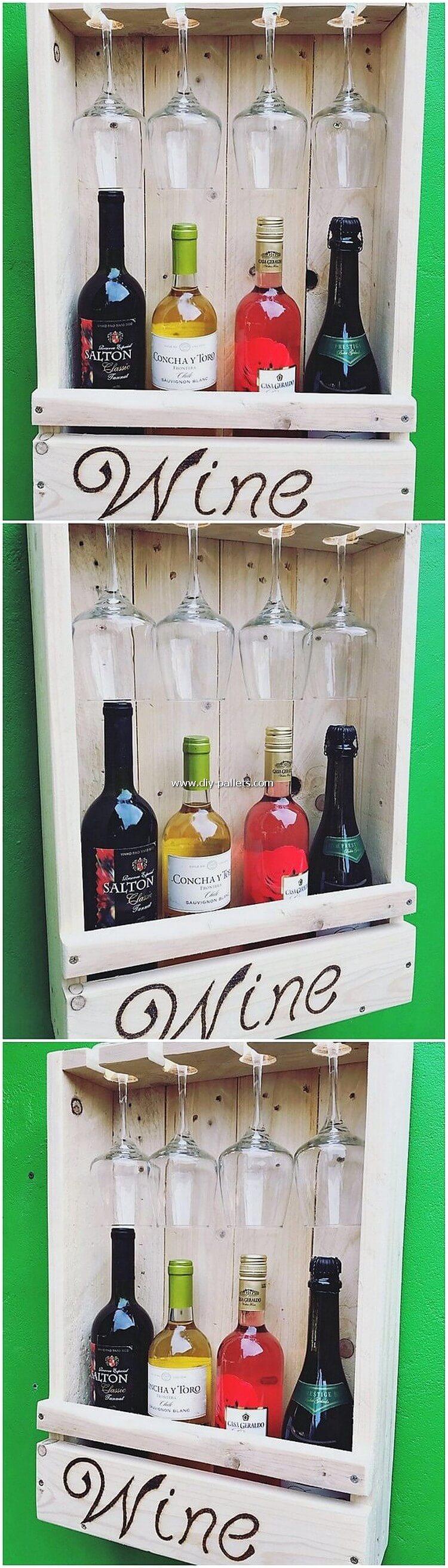 Pallet Wine Rack Idea