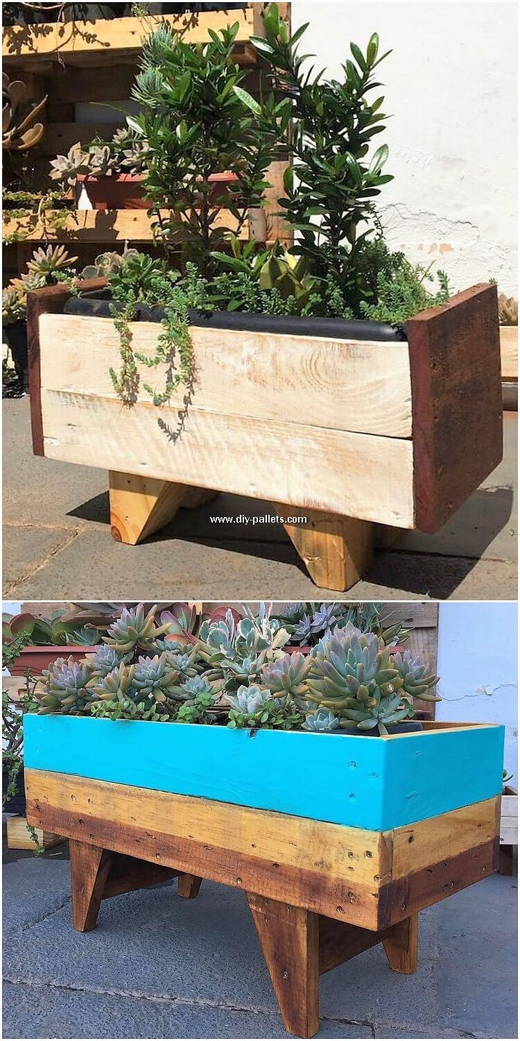 Wooden Pallet Planter Box