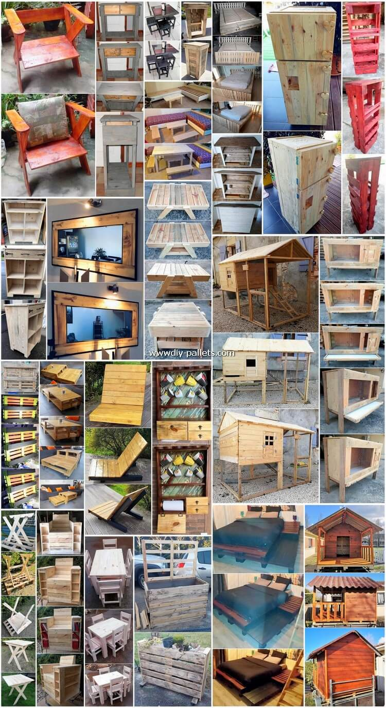 Inspired DIY Ideas for Old Wood Pallets Reusing