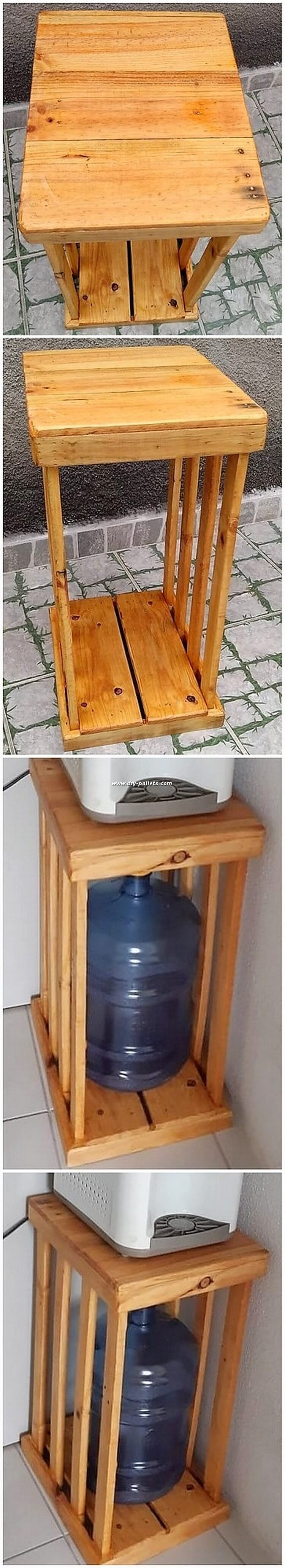 Wooden Pallet Cooler Stand