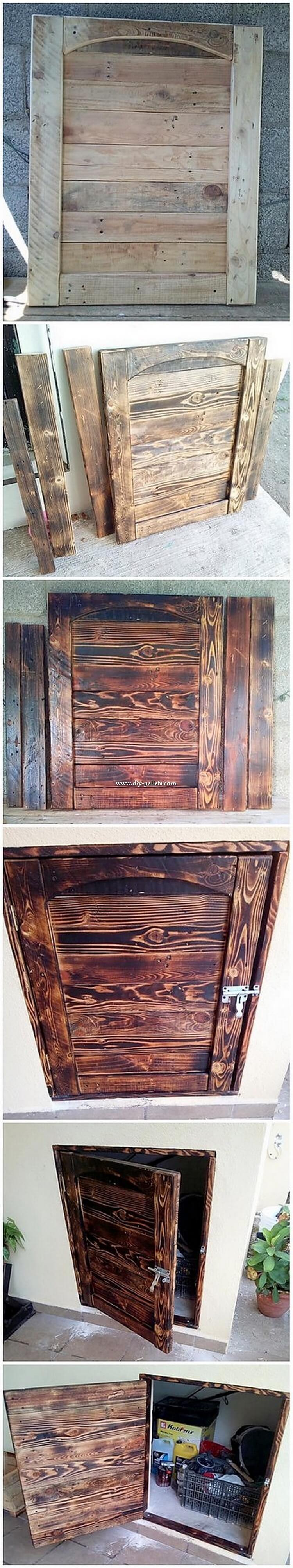 DIY Pallet Cabinet Door
