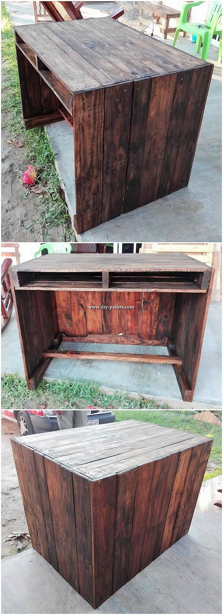 Pallet Wood Desk Table
