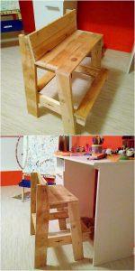 Pallet Bench for Kids