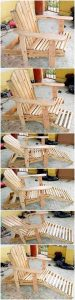 Pallet Chair with Sun Lounger