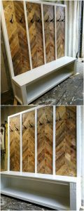 Pallet Coat Rack with Shoe Rack
