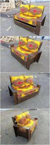 Pallet Seat with Storage