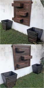 Pallet Wall Planter and Planter Boxes