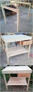 DIY Pallet Table with Drawer