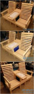 Pallet Chairs with Center Table