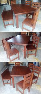 Pallet Dining Table and Chairs
