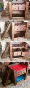 Pallet Dog Bed with Drawers