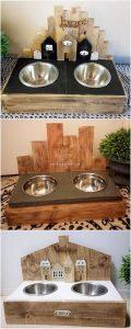 Wood Pallet Dog Food Feeder