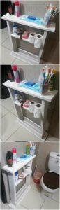 Pallet Bathroom Shelving Unit