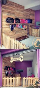 Pallet Wall Paneling and Fence Door