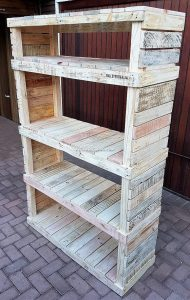 Pallet Wooden Shelving Cabinet