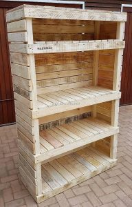 Recycled Pallet Shelving Cabinet