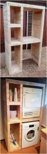 Wood Pallet Shelving Cabinet