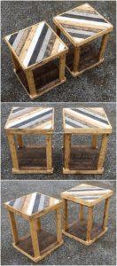 Wooden Pallet Side Tables