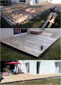 DIY Pallet Garden Deck