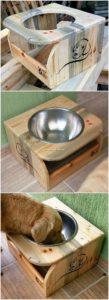 Pallet Dog Food Bowl