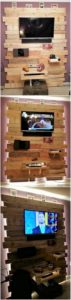 Pallet Wall LED Holder with Lights