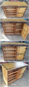 Pallet Wine Rack Cabinet