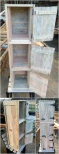 Recycled Wood Pallet Cabinet