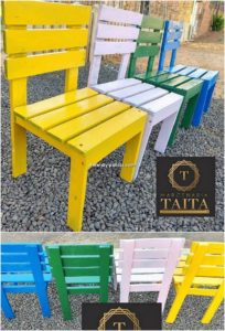 Colorful Pallet Chairs