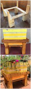 DIY Pallet Planter Stand
