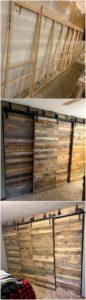 DIY Pallet Sliding Doors