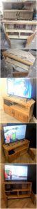 DIY Pallet TV Stand or Media Cabinet